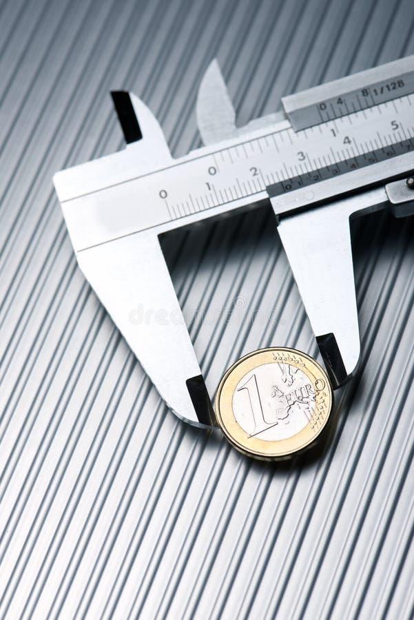 Kalibrierung des Euro stockbilder