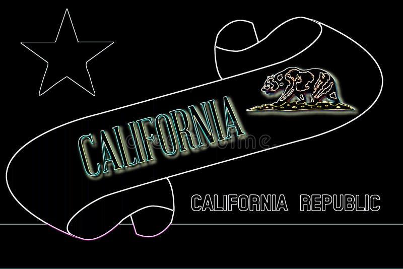Kalifornia ślimacznica royalty ilustracja