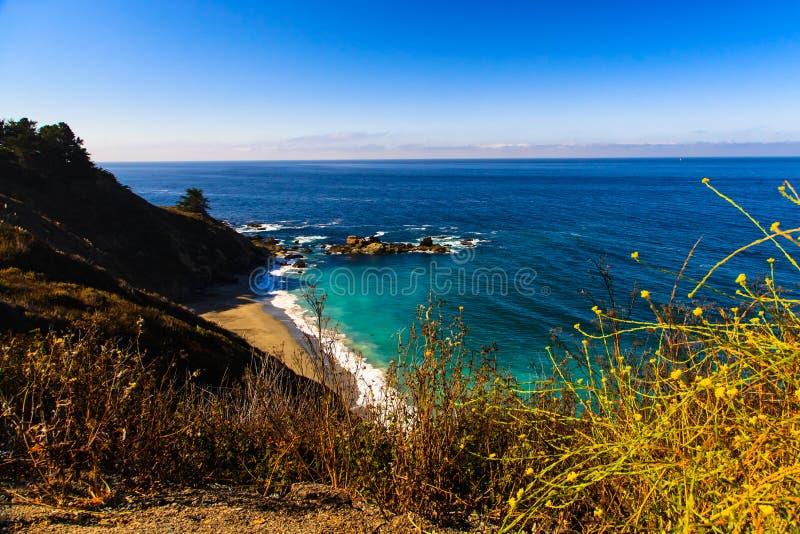 Kalifornia autostrada 1 fotografia stock