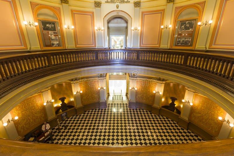 Kalifornia Capitol rotundy lobby obrazy royalty free