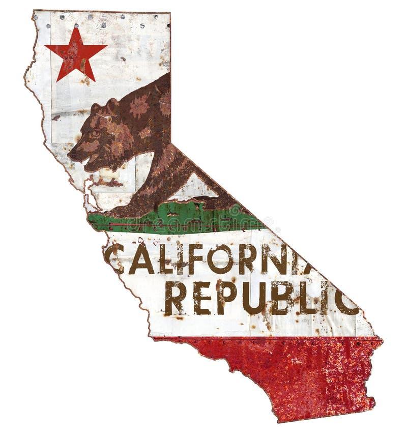 Kalifornia flaga Grunge royalty ilustracja