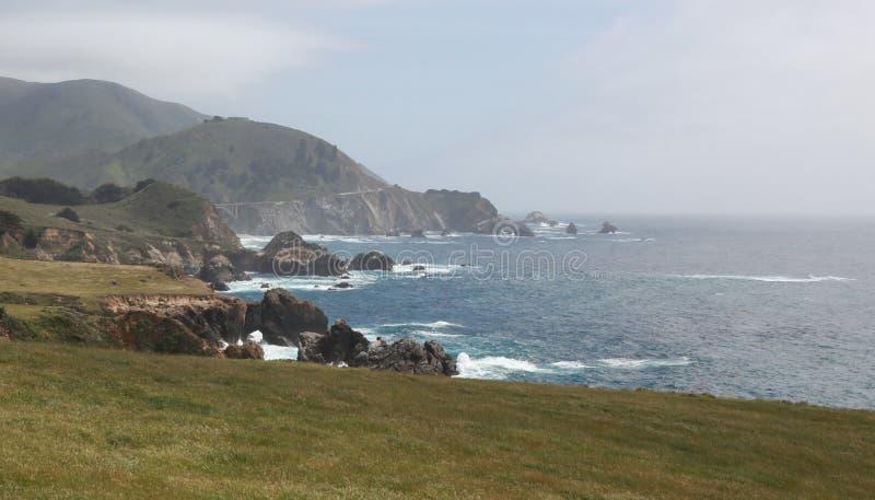 Kalifornia linia brzegowa fotografia stock