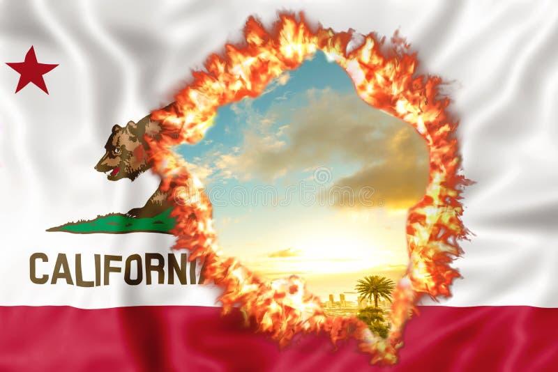 Kalifornia na ogieniu ilustracji