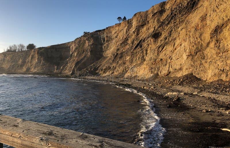 Kalifornia plaży dok zdjęcia stock