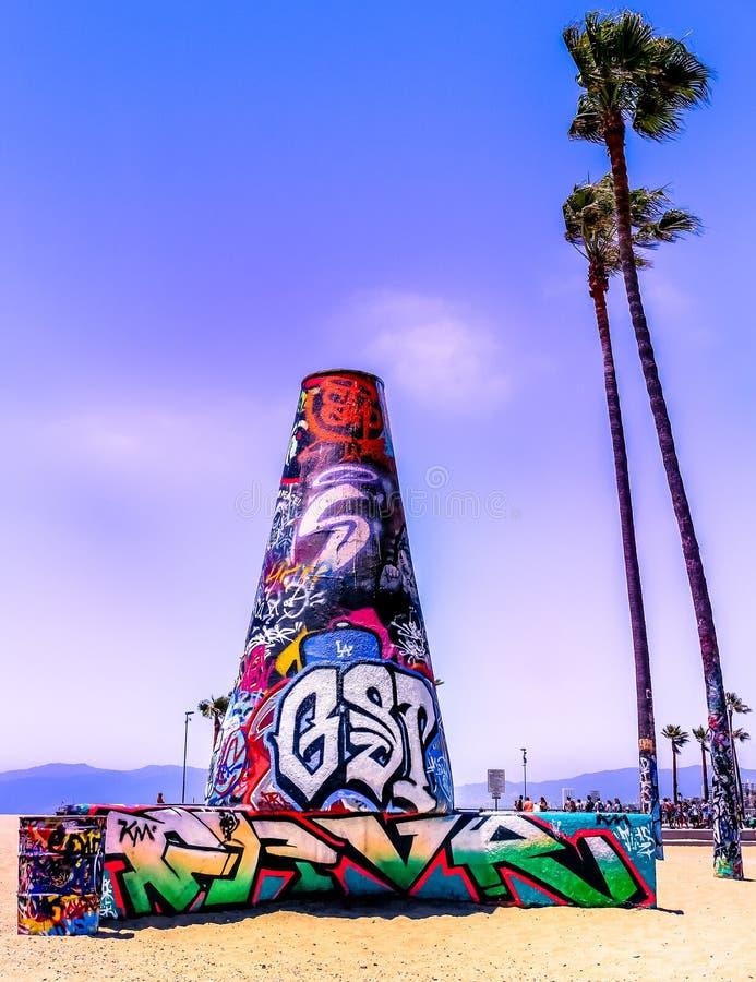 Kalifornia plaży graffiti zdjęcie stock