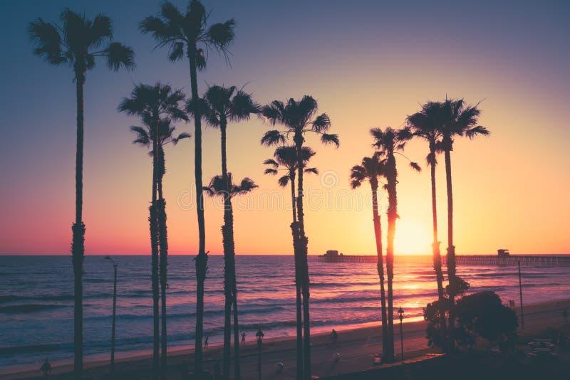 Kalifornia plaży zmierzch obraz royalty free