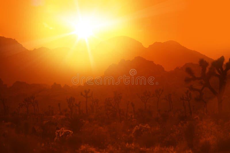 Kalifornia pustyni upał zdjęcie royalty free