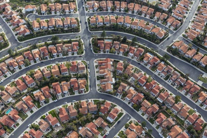Kalifornia sąsiedztwa Podmiejska antena zdjęcia stock