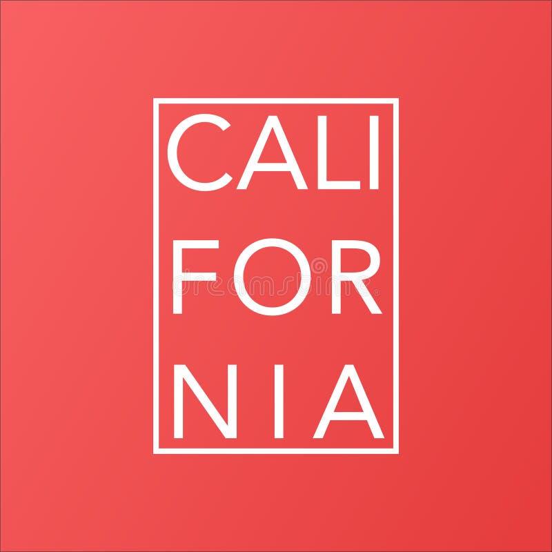 Kalifornia stan na żyć koralowego nowożytnego tło ilustracji