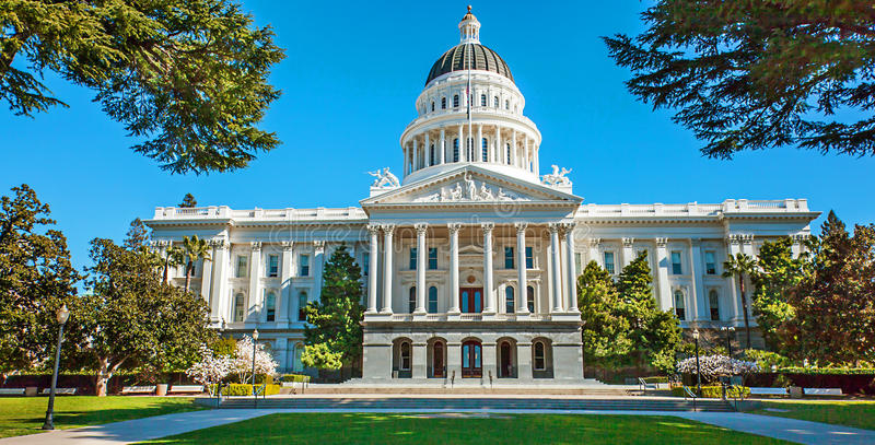 Kalifornia stanu capitol Sacramento zdjęcia stock