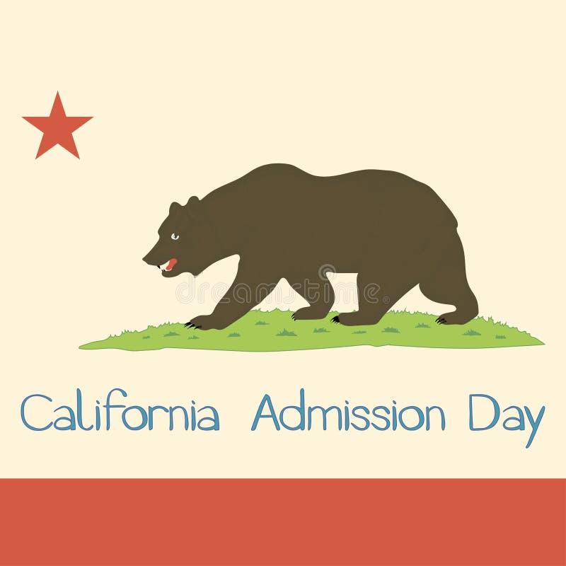 Kalifornia stanu flaga 1953 royalty ilustracja