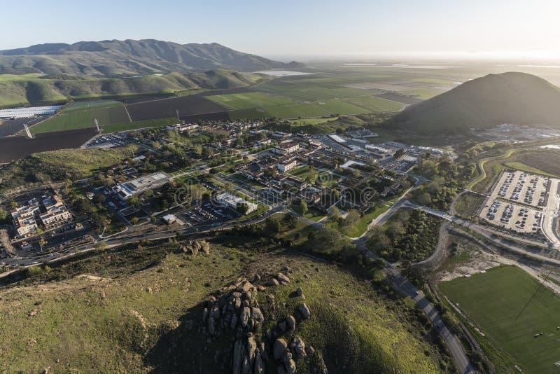 Kalifornia stanu uniwersyteta channel islands Ventura okręg administracyjny Aeria obraz stock