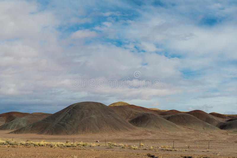 Kalifornia trasy 1 sceniczne góry zdjęcie stock