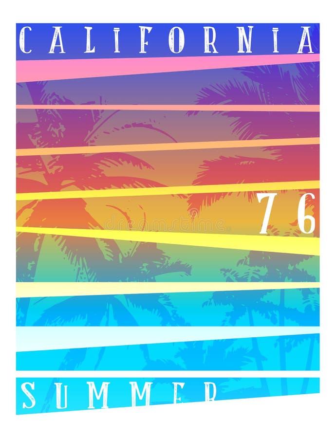 Kalifornia typografii grafika Koszulka druku projekt dla spor ilustracja wektor