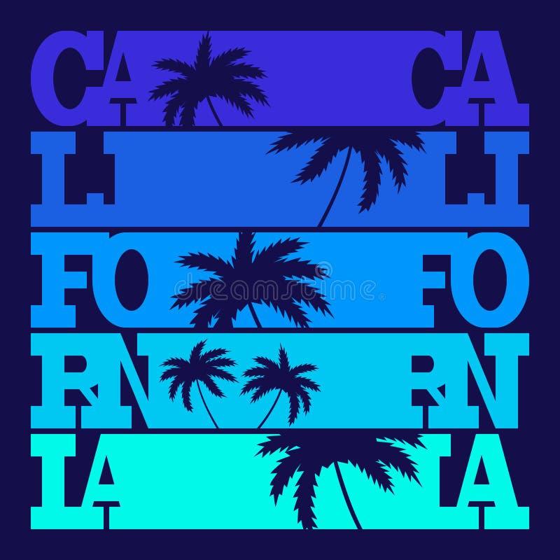 Kalifornia typografii grafika Koszulki mody projekt ilustracja wektor