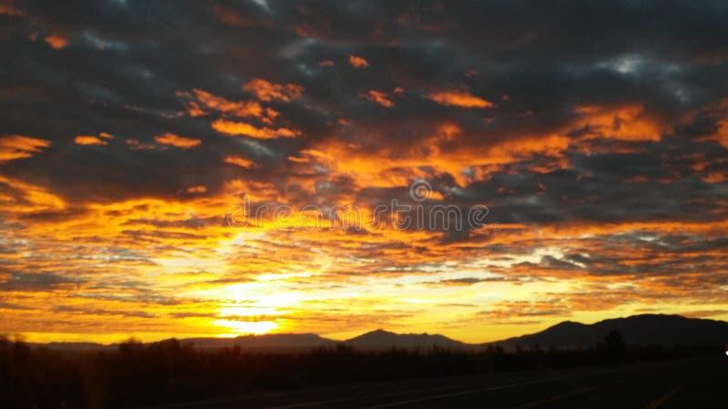 Kalifornia wschód słońca zdjęcia stock