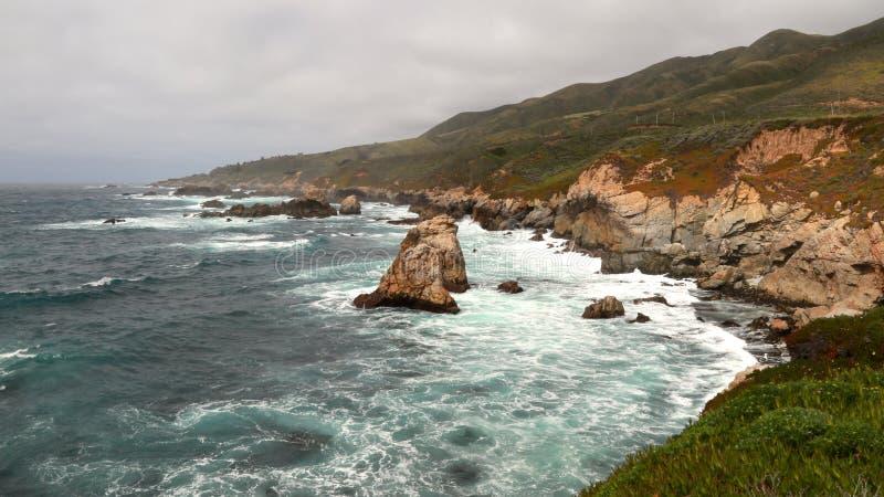 Kalifornia wybrzeże obrazy royalty free
