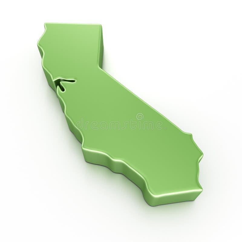 Kalifornien royaltyfri illustrationer