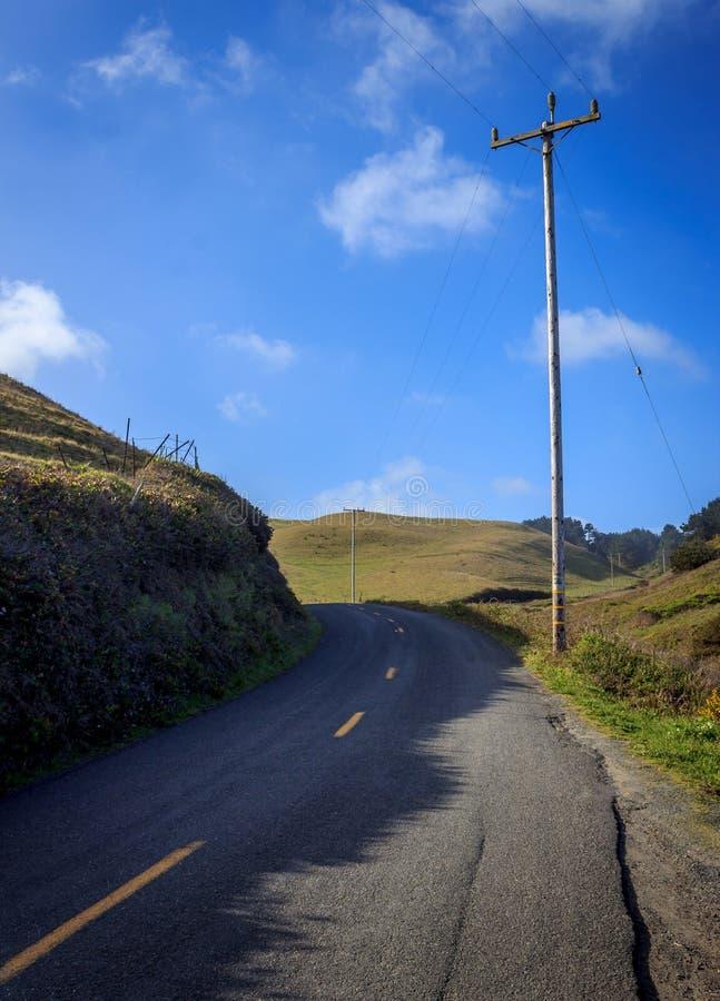 Kalifornien backroads royaltyfri foto