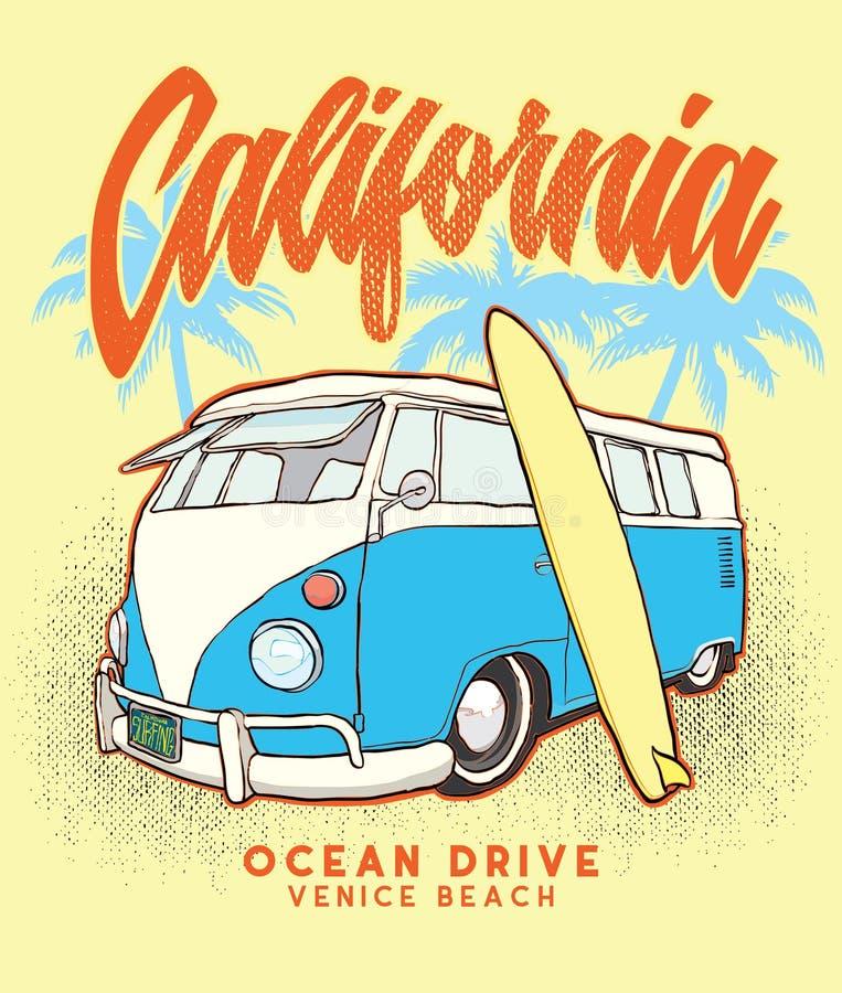 """Kalifornien-Brandung bus†""""Vorratillustration †""""Vorrat-Illustrationsdatei stock abbildung"""