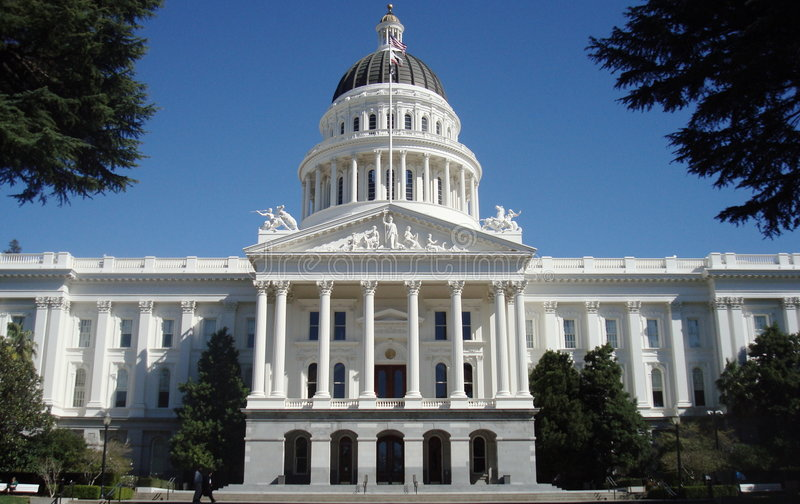 Kalifornien capitol arkivfoto