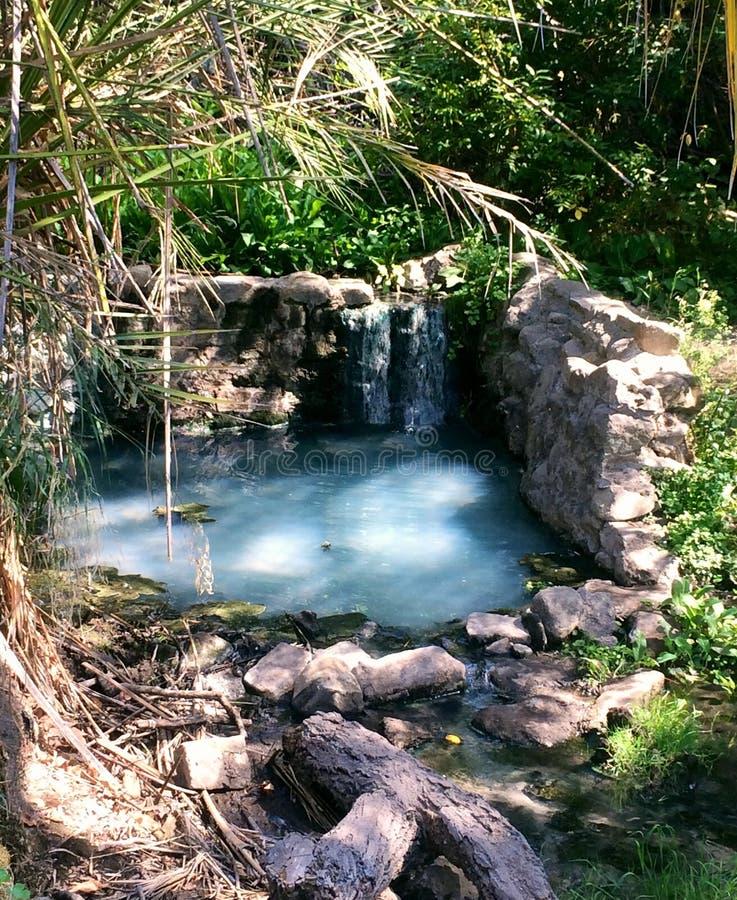 Kalifornien central kust naturliga Hot Springs royaltyfria foton