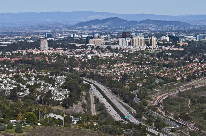 Kalifornien diego förorts- san arkivfoton