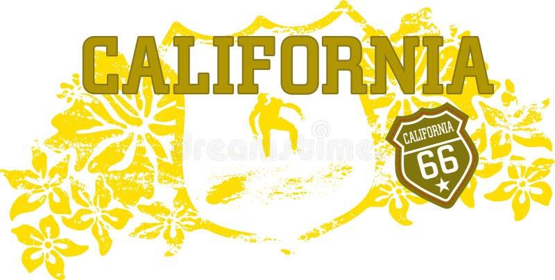 Kalifornien dröm stock illustrationer