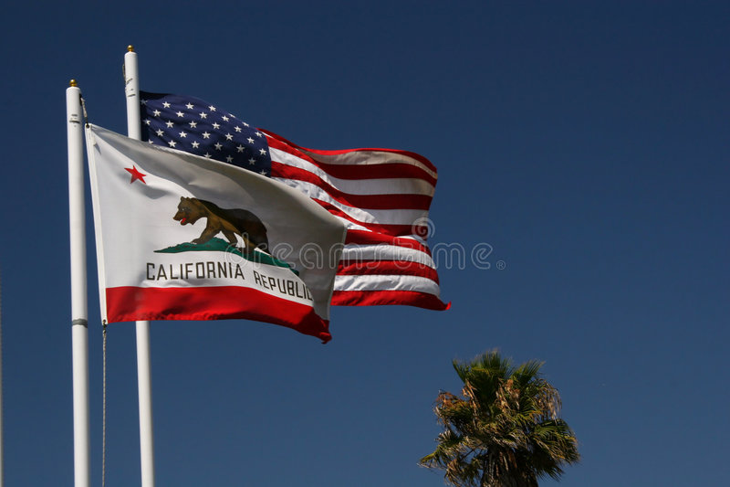 Kalifornien flags s u royaltyfri bild