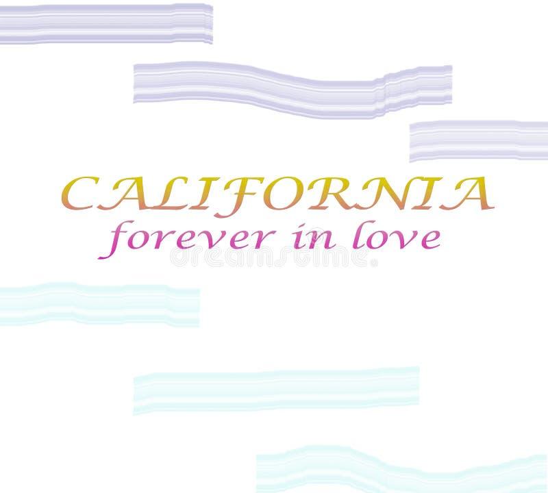 Kalifornien-Hintergrund mit der Aufschrift Kalifornien-Weinleseartgraphiken eingestellt Aufkleber, Ausweise, Embleme und Gestaltu vektor abbildung