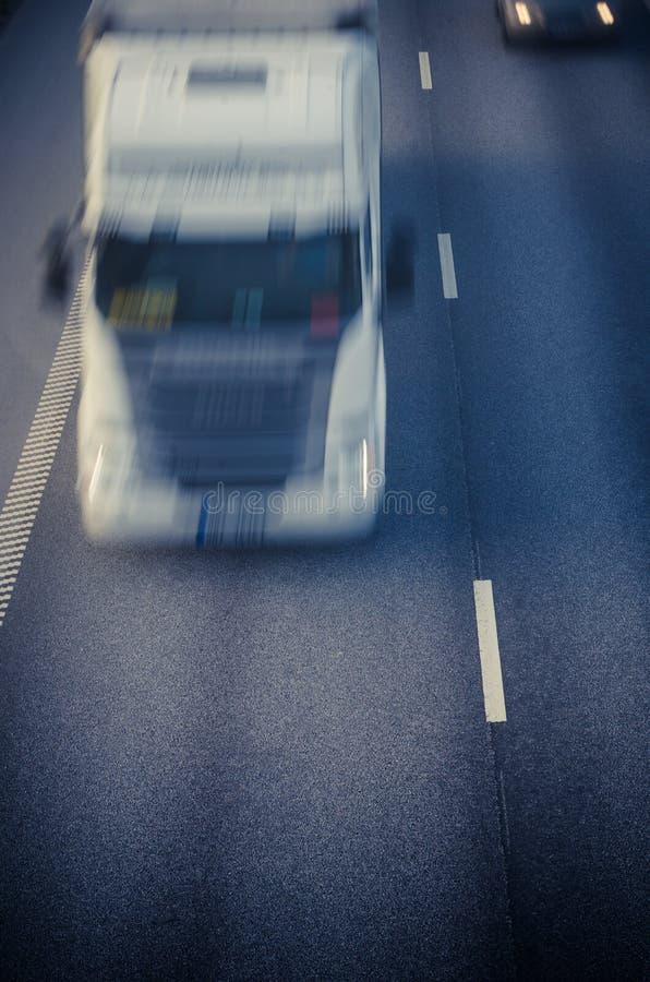 Kalifornien huvudväglastbil USA royaltyfria bilder