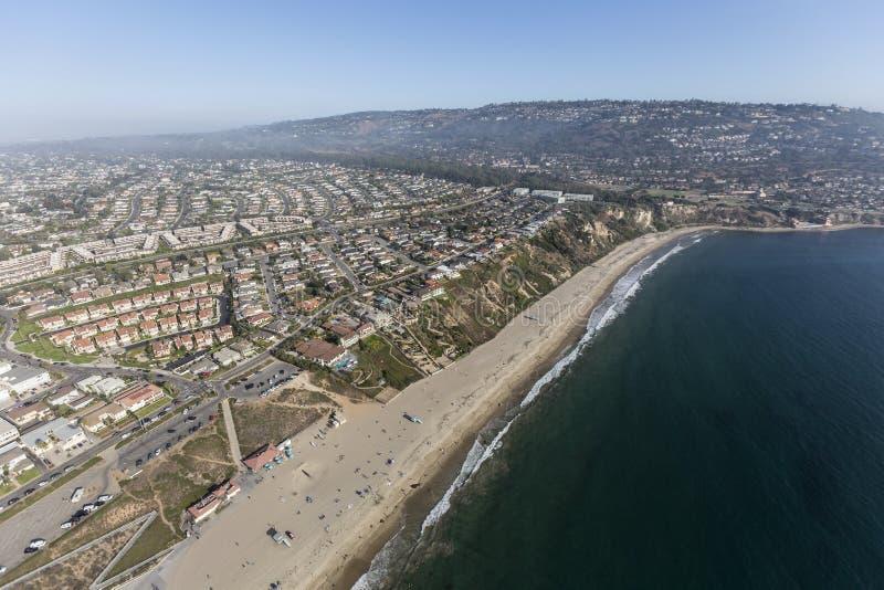 Kalifornien-Küste Luft-Torrance Beach und Rancho Palos Verdes lizenzfreies stockfoto