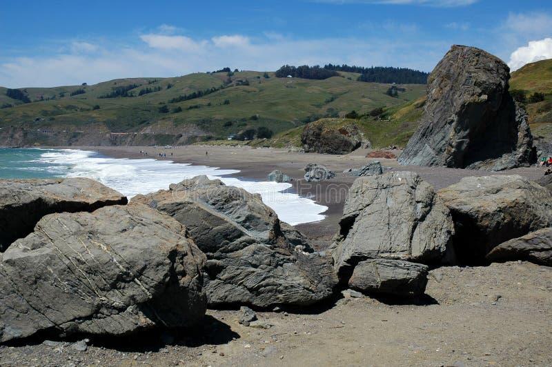 Kalifornien-Küste nahe Bodega Schacht lizenzfreie stockfotografie