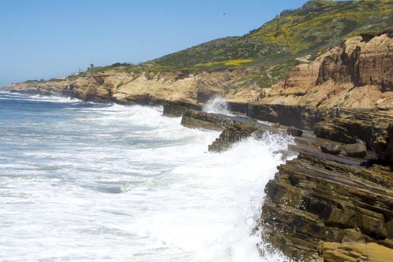 Kalifornien-Küstenlinie stockfotos