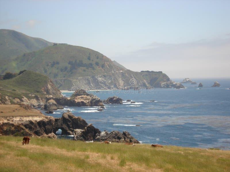 Kalifornien kust- huvudväg fotografering för bildbyråer