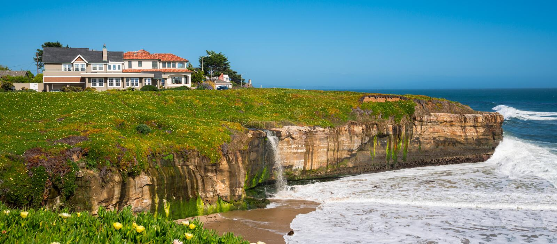 Kalifornien kustlinje arkivfoton