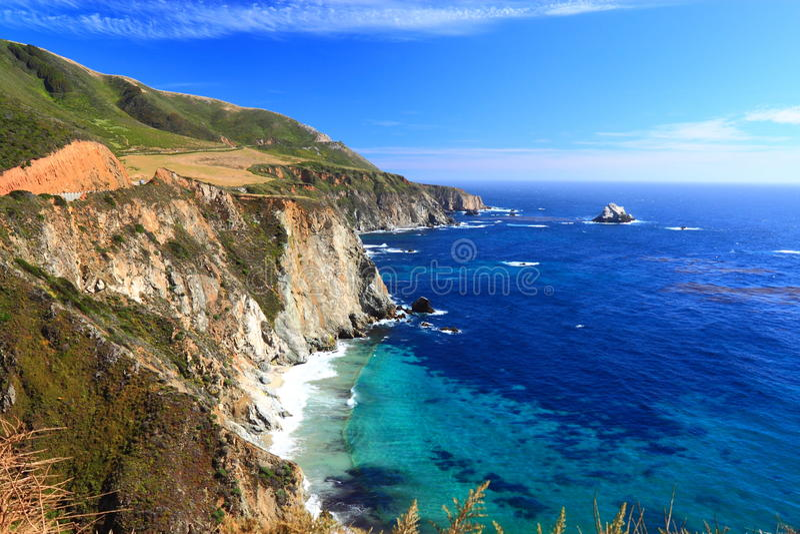 Kalifornien kustlinje royaltyfria bilder