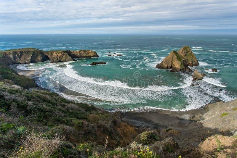 Kalifornien kustlinje royaltyfri bild
