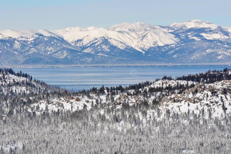 Kalifornien Lake Tahoe vinter fotografering för bildbyråer