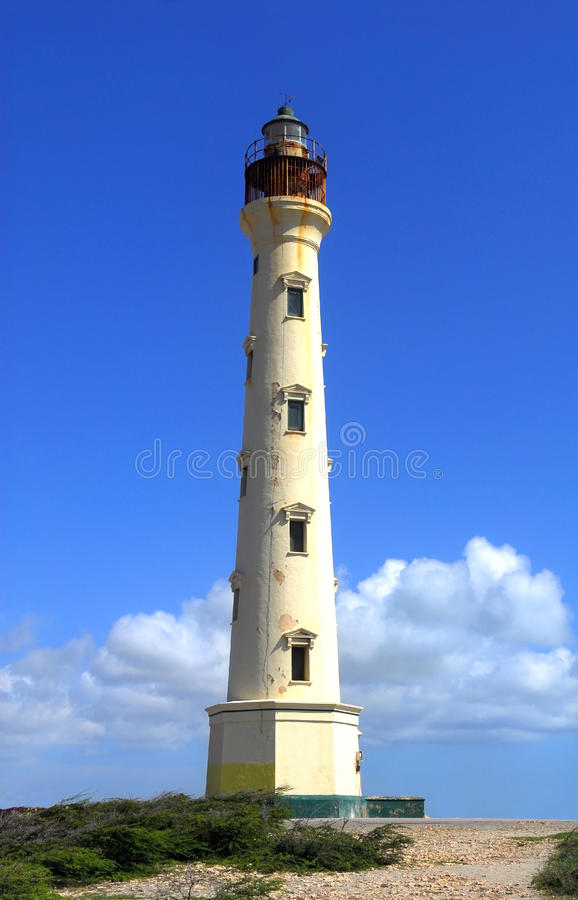 Kalifornien-Leuchtturm in Aruba stockfotos
