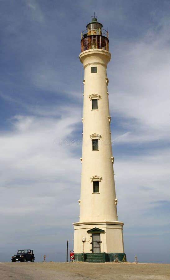 Kalifornien-Leuchtturm, Aruba stockfoto
