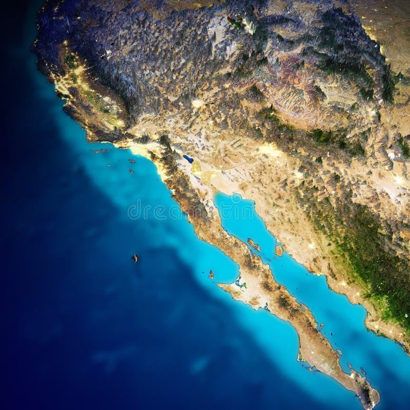 Kalifornien och Stillahavs- Mexico kust royaltyfri illustrationer