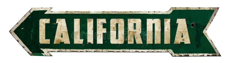 Kalifornien Retro teckenpil arkivbild