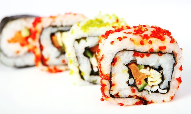 Kalifornien rollt Sushi stockfotos