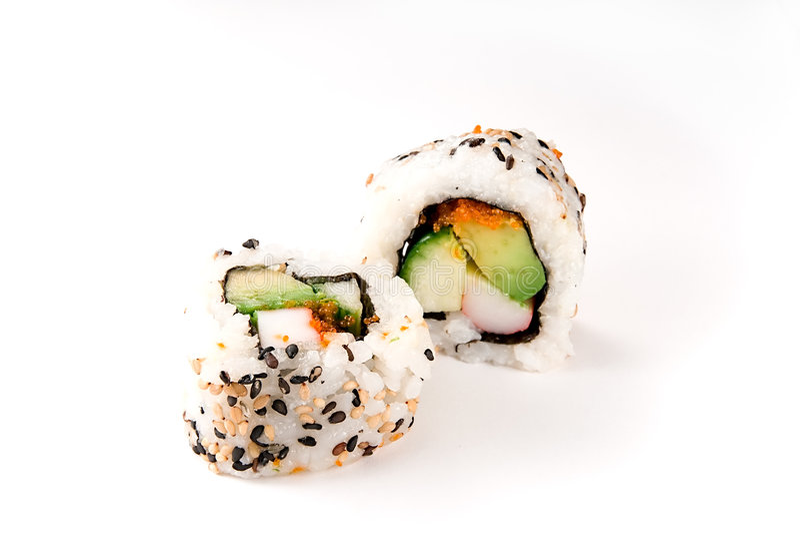 Kalifornien rullar sushi arkivfoton
