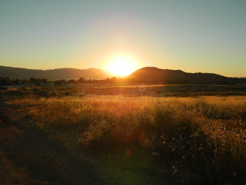 Kalifornien solnedgångar royaltyfria bilder