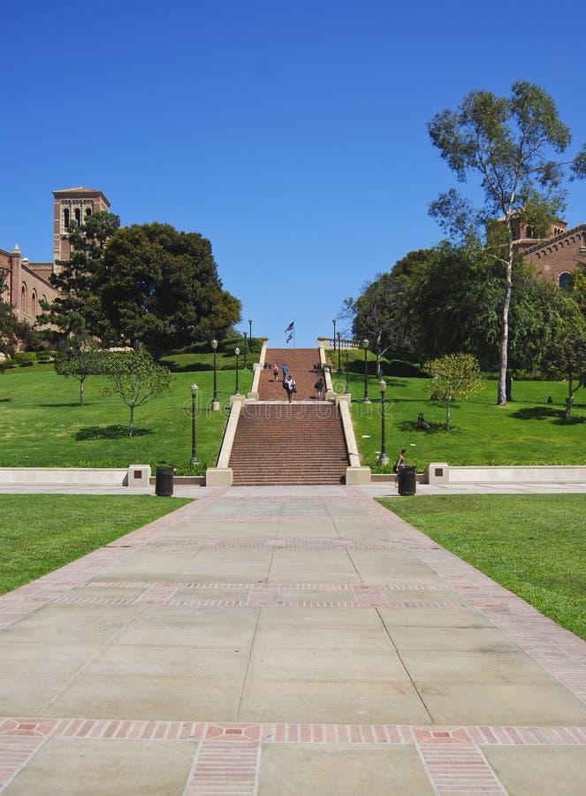 Kalifornien-Universitätsgelände stockfoto