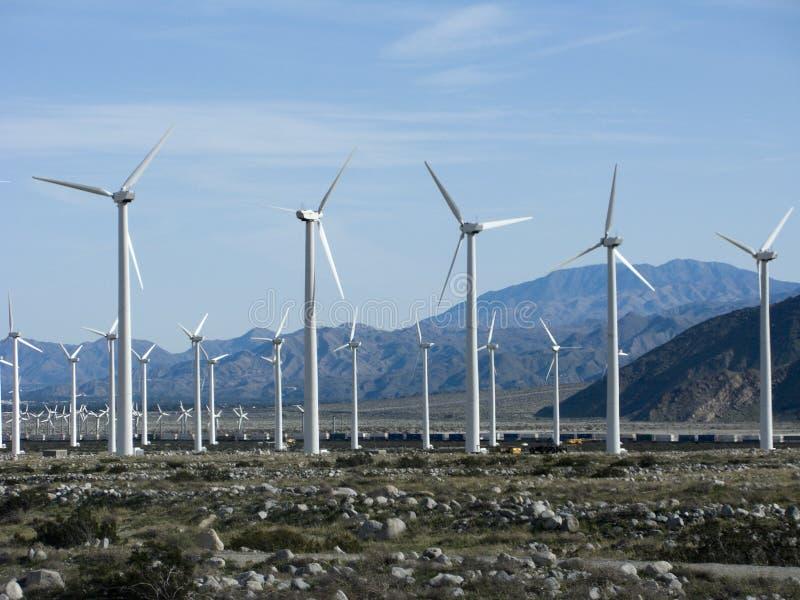 Kalifornien-Wind-Energie lizenzfreies stockfoto