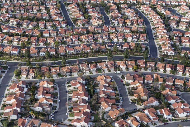 Kalifornii Południowych ślepej uliczki domy i ulicy zdjęcie stock