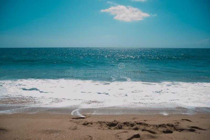 Kalifornijczyk plaża wokoło Long Beach, Kalifornia Kalifornia zna jak ciepły i ładny skop Świat jest duży dosyć badać m obraz royalty free